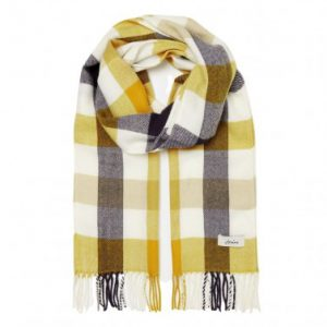 Joules Bracken Scarf Brown Check