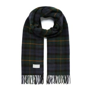 Joules Bracken Scarf Navy Green Check