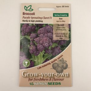 Broccoli Purple Sprouting Claret F1